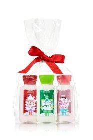 Bath & Body Works Holiday Traditions Trio Gift set; Winter Candy Apple, Vanilla Bean Noel & Twisterd Peppermint 3 Oz Body Lotions
