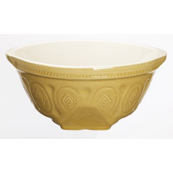 Kitchen Craft Traditional Stoneware Round Mixing Bowl, 4.5 Litres