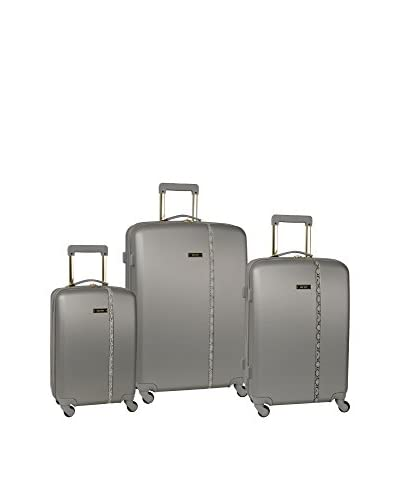 Nine West Noelle 3-Piece Hardside Luggage Set, Grey