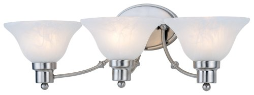 Hardware House 544643 24-3/4-Inch by 7-1/2-Inch Bath/Wall Lighting Fixture, Satin Nickel