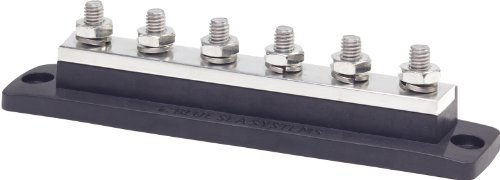 Blue Sea Systems Maxibus 250A Busbar With Six Terminal 18 Studs Of 5/16-Inch