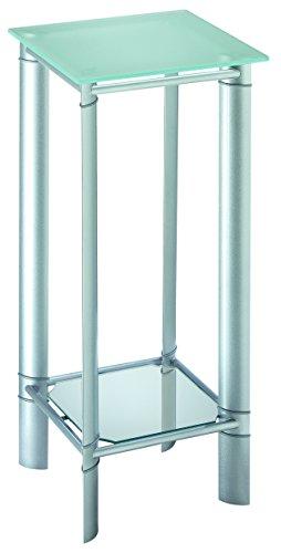 Haku-Mbel-88892-ID-Space-Garderobenstnder-aus-Stahl-in-chrommarmor-dunkelbraun-171-cm