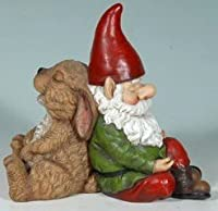 Snoozing Gnome + Bunny Friends Garden Statue from Mayinc
