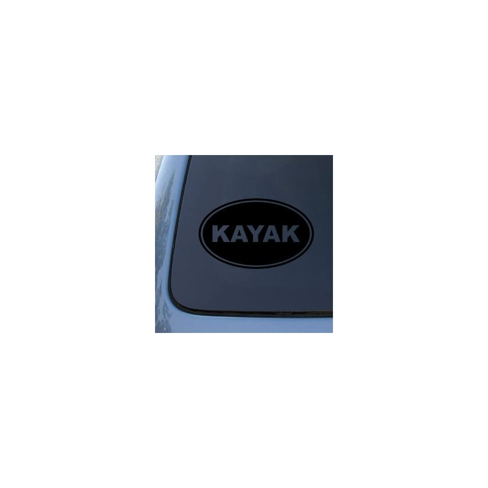 KAYAK EURO OVAL   Vinyl Car Decal Sticker #1724  Vinyl Color Black
