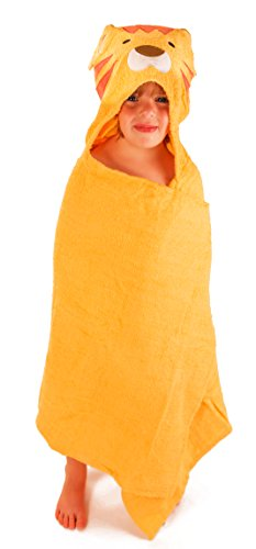 SaturdayKnight Animal Face Hooded Baby Towel, Lion