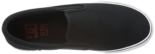 DC Trase Slip-On TX Skate Shoe, Black/White, 10.5 M US