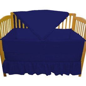 Solid Color Royal Blue Portable Crib Bedding