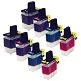 Unknown Compatible Ink Cartridge Replacement for Brother LC41 ( Black,Cyan,Magenta,Yellow , 8-Pack )