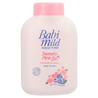 Babi Mild Natural Baby Powder Sweety Pink Moisture Natural Shea Butter 50g
