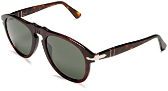 Persol Men's Classic PO649 Sunglasses,Tortoise Frame/Black Lens,one size