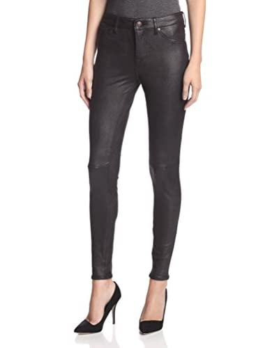 ABS Denim by Allen Schwartz Women's Soft Faux Leather Legging