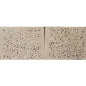 IQ Assembling Product Series Brachiosaurus (Wooden 3-D Puzzle)