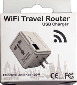 WiFi Travel Router(2.1A USBポート・無線LANルーター機能搭載マルチ変換アダプター)