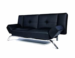 Dorel Home Products 3161 096 Emma Revolution Convertible Sleeper Futon, Black