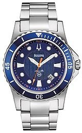 Bulova Men's 98B130 Marine Star Blue Dial Bracelet Watch