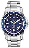Bulova Marine Star Bracelet Blue Dial Men's Watch #98B130