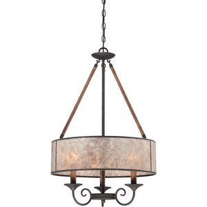 Quoizel BDR2820IB Bandelier with Imperial Bronze Finish,  Pendant and 3 Lights,  Brown