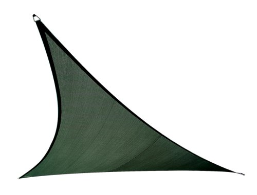 Coolaroo Triangle Shade Sail 11 Feet 10 Inches with Hardware Kit, Brunswick Green