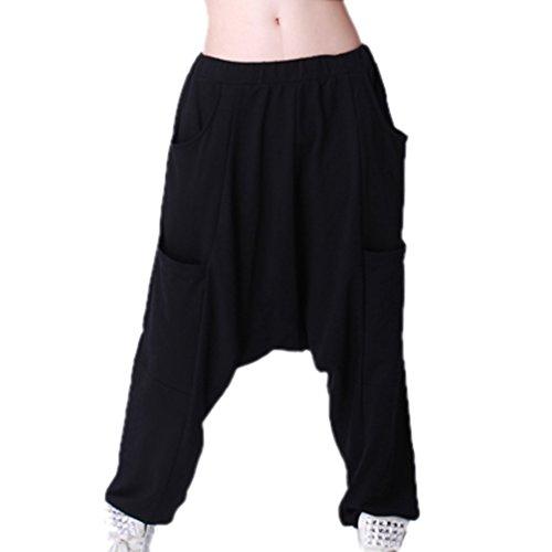 Tangda Fashion Women Oversized Baggy Harem Hippie Hip-Hop Pants Trousers - Black