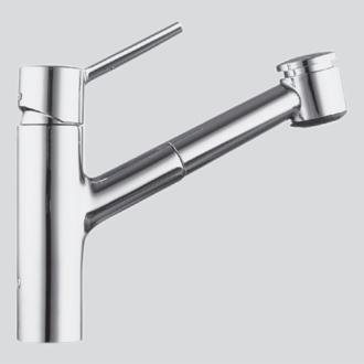 KWC Faucets 10.211.033.000 LUNA Pull Out Kitchen Faucet, Chrome