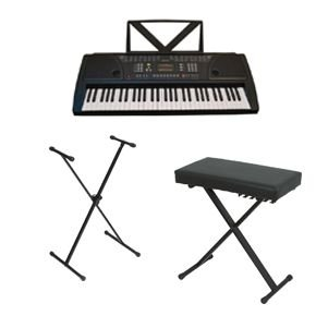 Huntington KB61 Portable Keyboard w/ Stand and Bench Black