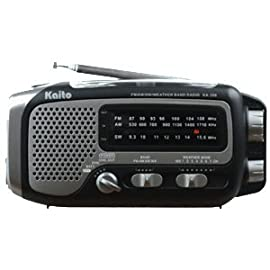 Voyager Trek AM/FM/SW NOAA Solar/Crank Radio with Flashlight - Gray