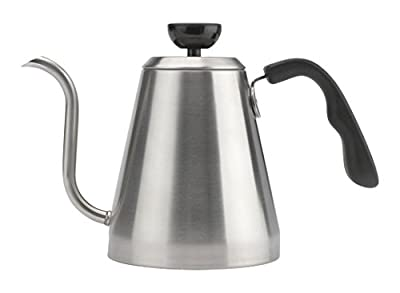 Bialetti Gooseneck Stovetop Kettle, 1 Liter, , Silver