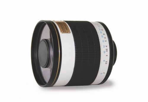 Rokinon Ed500M-Eos 500Mm F6.3 Mirror Lens For Canon Eos (White)