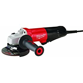 Milwaukee 6116-30 4-1/2-Inch/5-Inch Small Angle Grinder with Lock-On