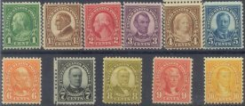 USA Collectible Postage Stamps: 1926-34 Definitives SC 632-42. Mint Non Hinged