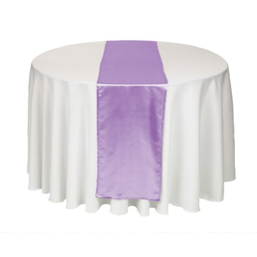 Linentablecloth 14 X 108-Inch Satin Table Runner Lavender front-258302