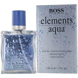 elements aqua by hugo boss for men 3 4 ounce edt spray womens fragrances perfumes. Black Bedroom Furniture Sets. Home Design Ideas