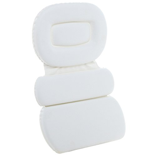Soft Luxurious Foam Padded Large White Spa Bath Pillow / Hot Tub Head & Back Cushion (Tub Bed compare prices)