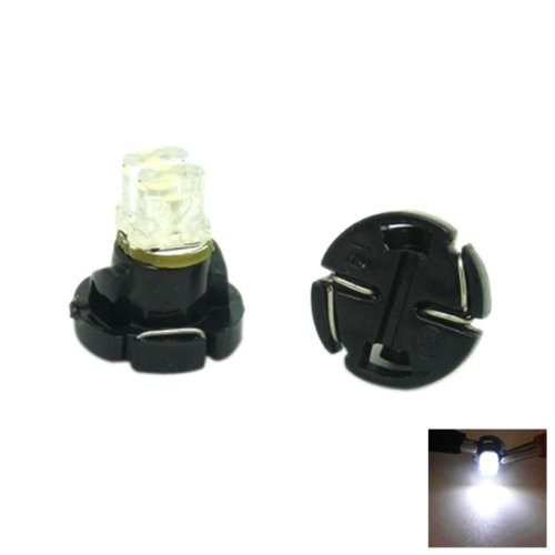 T4.2 2-Led White Lights Car Dashboard Instrument Light/ Indicator Light Bulbs Dc 12V (2Pcs In Box)