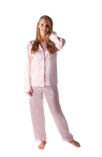 27136dd4e Women's Classic Satin Pajama Set and Sleep Mask, 16 Colors/Prints Available