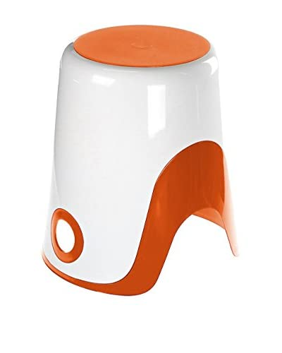Gedy by Nameek's Wendy Bathroom Stool 7073-93, White/Orange