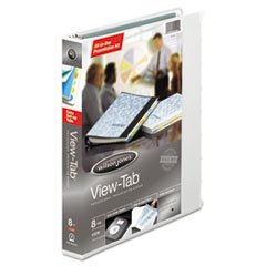 * View-Tab Round Ring Presentation Binder, 8-Tab Style, 1\