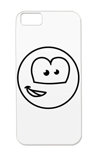 Black Tpu Funny Happy Motif Cute Sweet Comic Naughty Squint Head Cool Funny Laugh Design Grin Smiley Smile Round Face Teeth Witty Nice Cartoon Child Crazy Cheerfully Comic 1C Shatterproof Case Cover For Iphone 5C front-360012