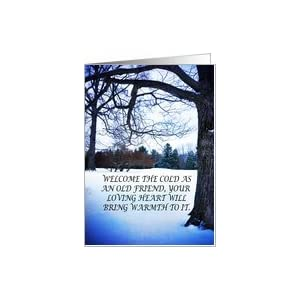 Inspirational Greeting Cards on Amazon Com  Blue Winter Inspirational Greeting Card Card  Health