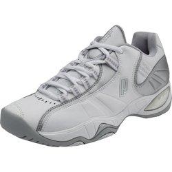 Prince Women's T-7 Tennis Shoes - White/Silver (WIDTH: Medium, SHOE SIZE:6)