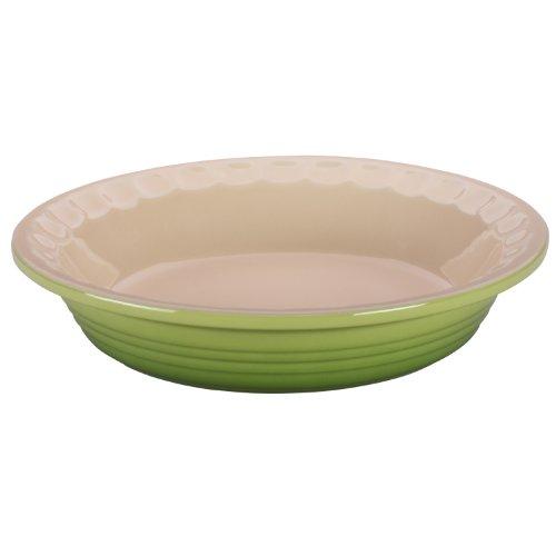 Le Creuset Stoneware Pie Dish, 9-Inch, Palm