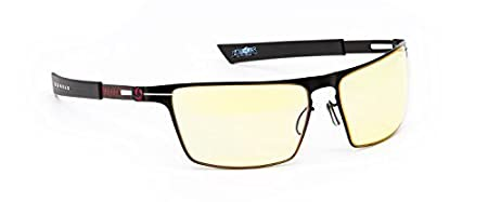 Gunnar Optiks Blizzard Heroes of the Storm, Siege in a Onyx Fire Wide Frame with Amber Lenses Advanced Computer Glasses BLI-00125z