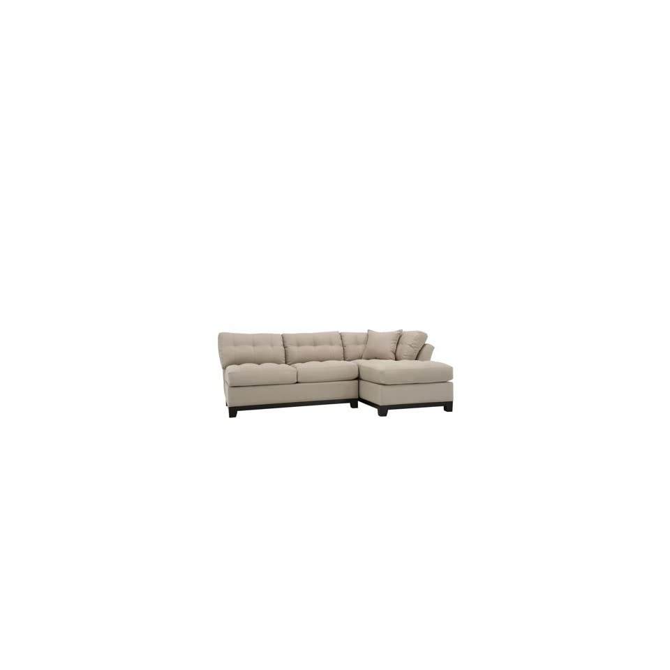 Cindy Crawford Beige Microfiber 2pc Sectional Sofa On Popscreen