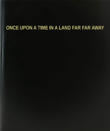 "Sale alerts for BookFactory BookFactory® Once Upon A Time In A Land Far Far Away Log Book / Journal / Logbook - 120 Page, 8.5""x11"", Black Hardbound (XLog-120-7CS-A-L-Black(Once Upon A Time In A Land Far Far Away Log Book)) - Covvet"