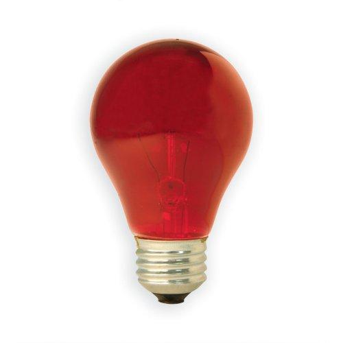 Ge 16555 25-Watt Party Light Bulb, Red, 3-Pack
