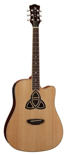 Luna Trinity Acoustic/Electric Guitar Dreadnought Cutaway - Natural