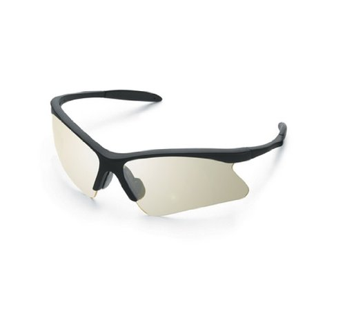 Gateway Safety 15BY83 Cobra Wraparound Safety Glasses, Gray Lens, Burgundy Frame