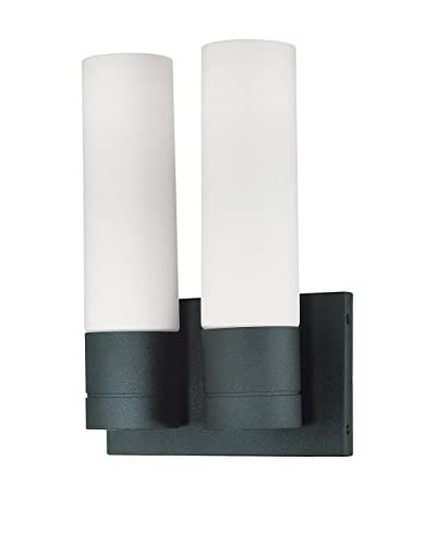 Nuvo Lighting Link 2-Light Tube Wall Scone, Textured Black