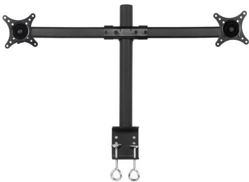"Pwr+® Dual Ergonomic Lcd Monitor Screen Led Tv Table Desk Mount Clamp Stand Up To 27"" Heavy Duty Fully Adjustable"