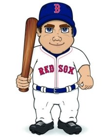 Boston Red Sox Dancing Musical Baseball Player by Hall of Fame Memorabilia